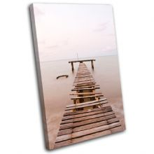 Old sea Pier Sunset Seascape - 13-0420(00B)-SG32-PO